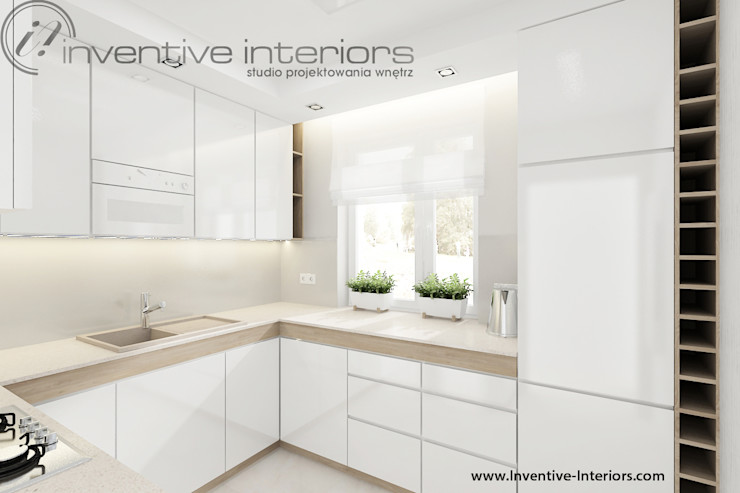 Inventive Interiors 모던스타일 주방 화이트