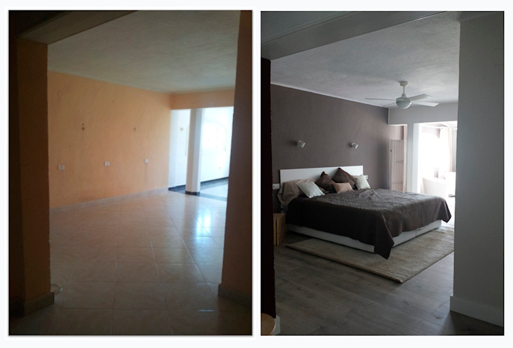 chalet en Javea torradoarquitectura Dormitorios de estilo moderno