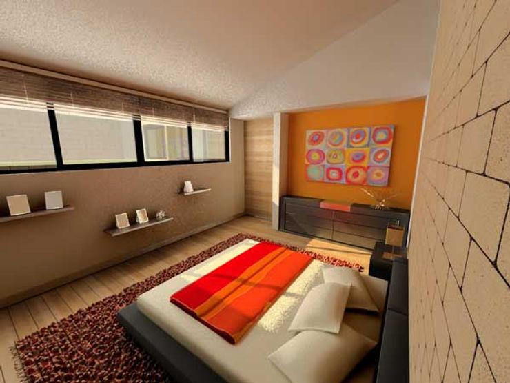 Casa Metepec ARQUITECTURA SOSTENIBLE Dormitorios modernos