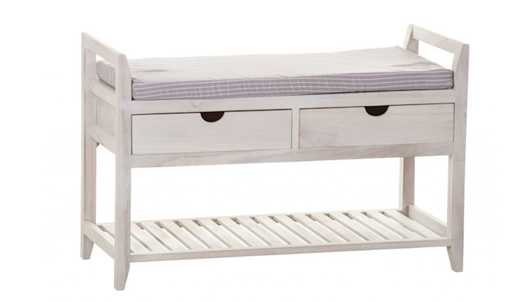 BENCH WITH DRAWERS ALURO PALIDA Altavola Design Sp. z o.o. Corridor, hallway & stairs Drawers & shelves Wood