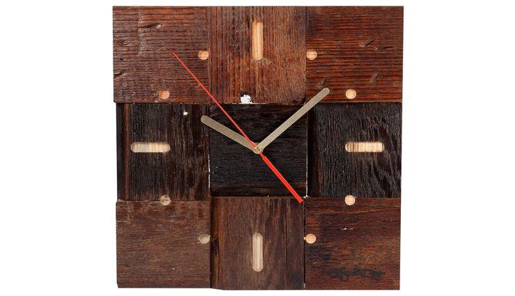 DRIFTWOOD CLOCK Altavola Design Sp. z o.o. Living roomAccessories & decoration Wood Brown