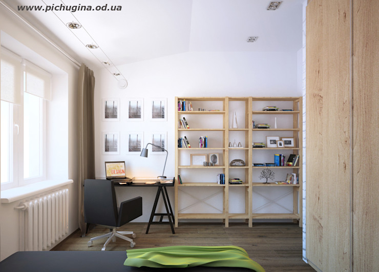 Tatyana Pichugina Design 書房/辦公室 White