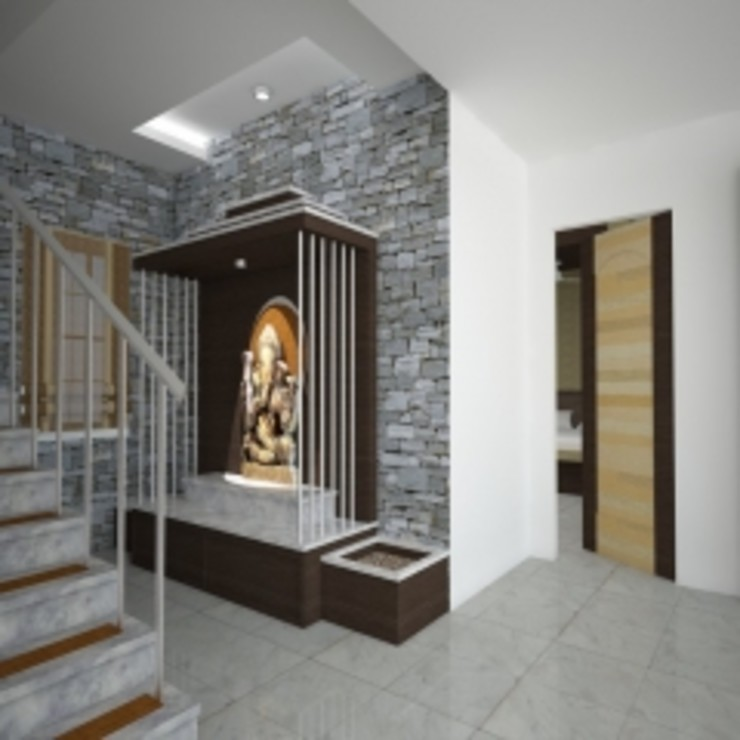 GAJENDRA YADAV'S RESIDENCE Spaces Architects@ka Modern balcony, veranda & terrace