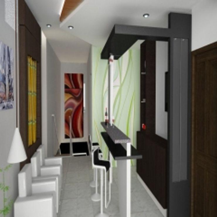 GAJENDRA YADAV'S RESIDENCE Spaces Architects@ka Modern dining room