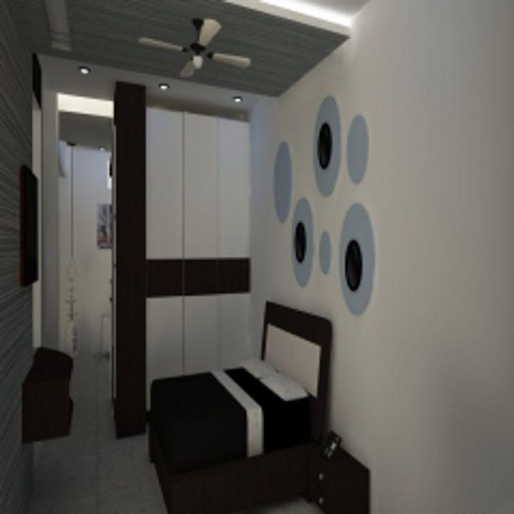 GAJENDRA YADAV'S RESIDENCE Spaces Architects@ka Modern bathroom
