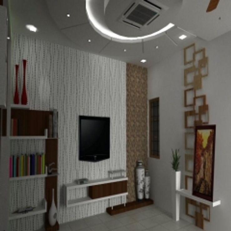 GAJENDRA YADAV'S RESIDENCE Spaces Architects@ka Modern pool