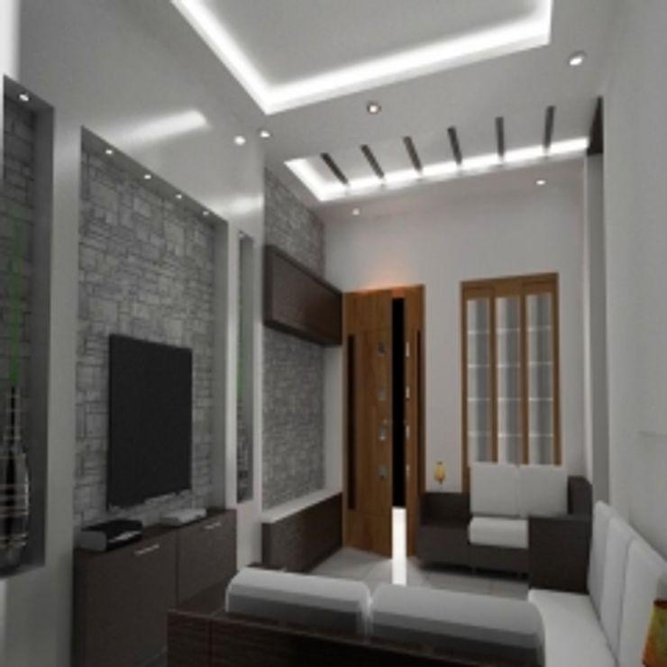GAJENDRA YADAV'S RESIDENCE Spaces Architects@ka Modern conservatory