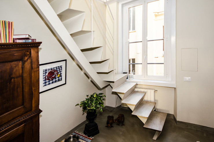 Realizzazioni A-LAB Arch. Marina Grasso Pasillos, vestíbulos y escaleras modernos