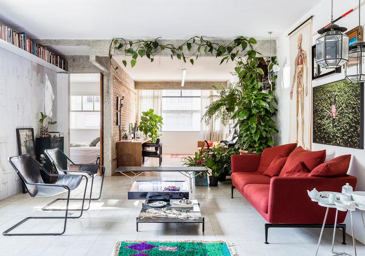 RSRG Arquitetos Livings de estilo minimalista