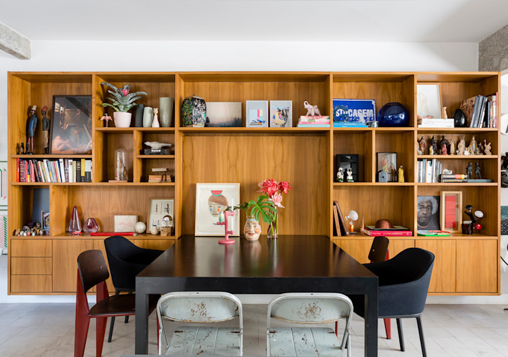 Apto. João RSRG Arquitetos Salas de jantar minimalistas