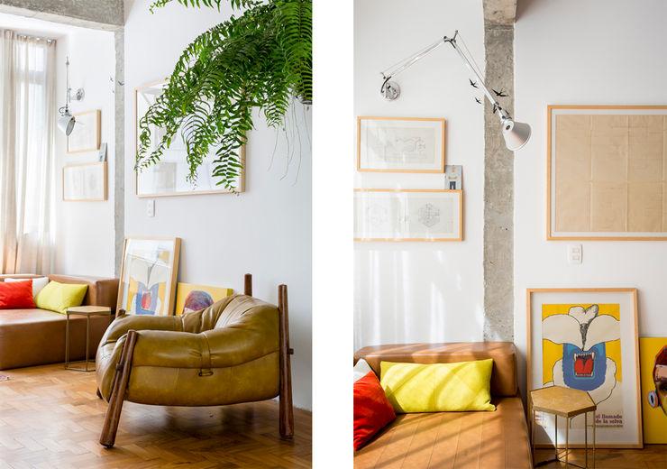 Apto. João RSRG Arquitetos Salas de estar minimalistas