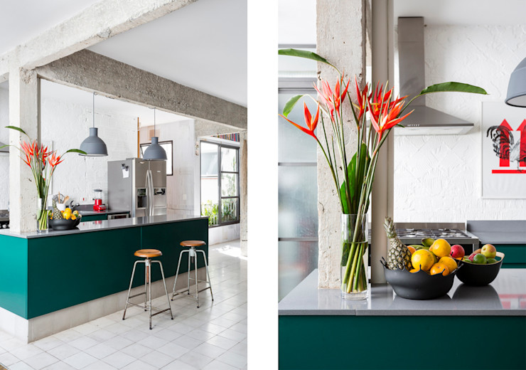 Apto. João RSRG Arquitetos Cozinhas minimalistas