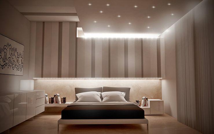 Renders&Progetti Giuseppe DE DONNO - architetto Camera da letto moderna