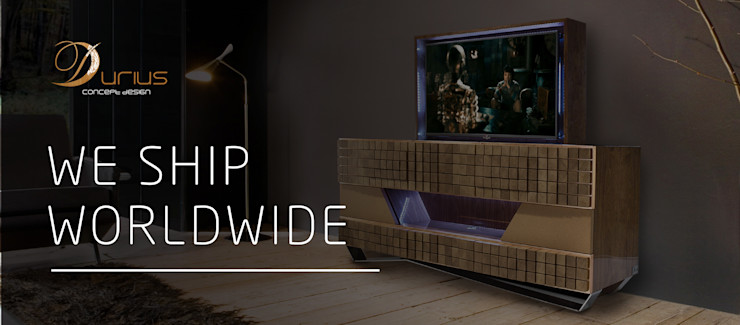 Durius_ConceptDesign Living roomTV stands & cabinets Solid Wood Brown