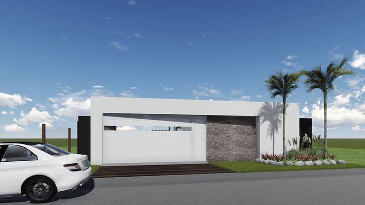 Proyecto Quincho en Las Rosas ARBOL Arquitectos Portões de garagem