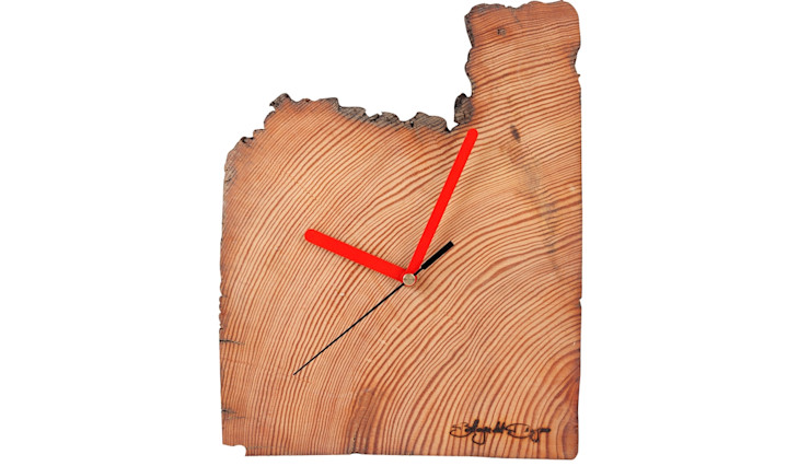 RECYCLING WOOD WALL CLOCK Altavola Design Sp. z o.o. Living roomAccessories & decoration Wood