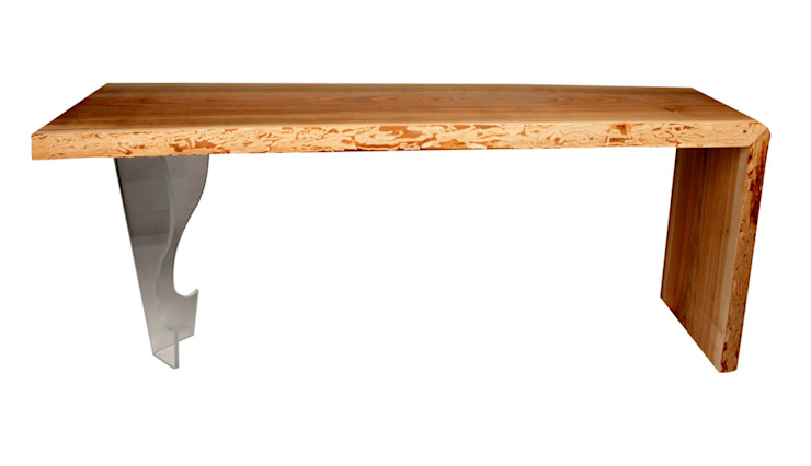 WOODEN SLAB COFFEE TABLE CHERRY II Altavola Design Sp. z o.o. Living roomSide tables & trays Wood