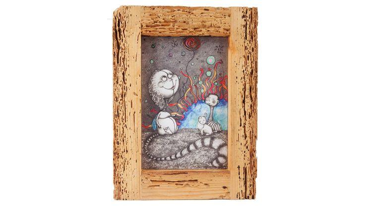 UPCYCLING FRAME AND GRAFIK IV Altavola Design Sp. z o.o. ArtworkPictures & paintings Wood