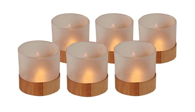 WOOD TEALIGHT HOLDER SET MINI 6 Altavola Design Sp. z o.o. Living roomAccessories & decoration Wood