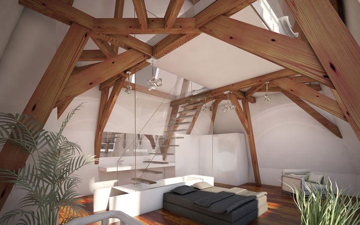 2architecten Modern style bedroom