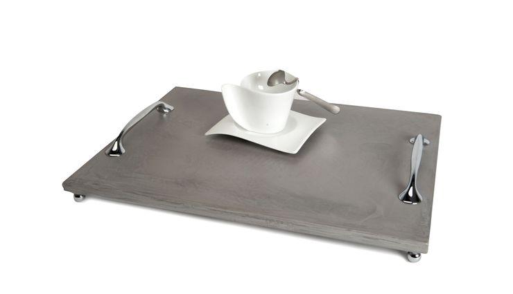 B&B CONCRETE TRAY 1 Altavola Design Sp. z o.o. Dining roomAccessories & decoration Pottery Grey