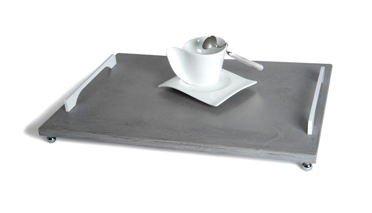 B&B CONCRETE TRAY 2 Altavola Design Sp. z o.o. Dining roomAccessories & decoration Pottery Grey
