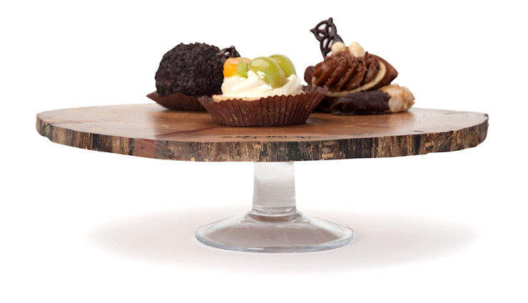 WOODEN DISC FRUIT TRAY CLASSY SMALL Altavola Design Sp. z o.o. Dining roomAccessories & decoration Wood