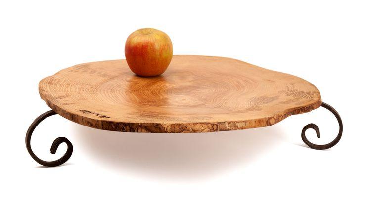 RECLAIMED WOOD FRUIT TRAY SLICE VINTAGE Altavola Design Sp. z o.o. Dining roomAccessories & decoration Wood