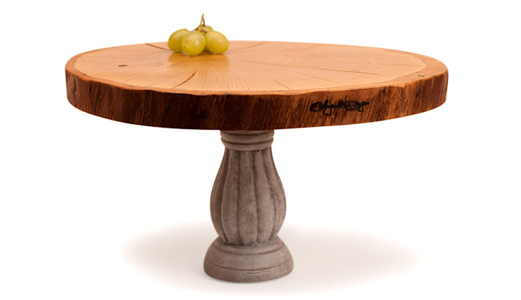 WOODEN DISC CAKE STAND PALACE 1 Altavola Design Sp. z o.o. Dining roomAccessories & decoration Wood