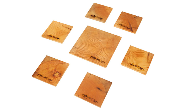ECOLOGICAL COASTERS HEAVY DUTY Altavola Design Sp. z o.o. Dining roomAccessories & decoration Wood