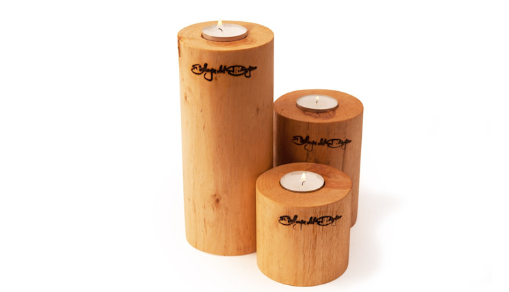 TEALIGHT HOLDER ROUND SET Altavola Design Sp. z o.o. Living roomAccessories & decoration Wood