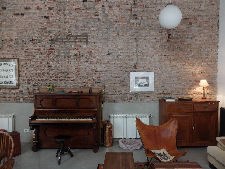 Refacción PH Urbano Chacarita DX ARQ - DisegnoX Arquitectos Livings modernos: Ideas, imágenes y decoración