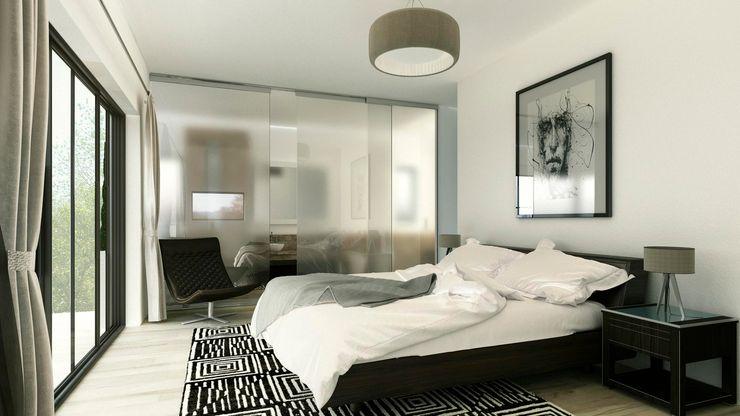 INTERIOR-DORMITORIO PRINCIPAL ARQUETERRA Dormitorios modernos: Ideas, imágenes y decoración