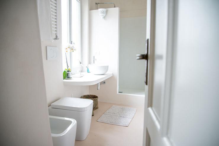 con3studio Ванна кімната Бетон Білий