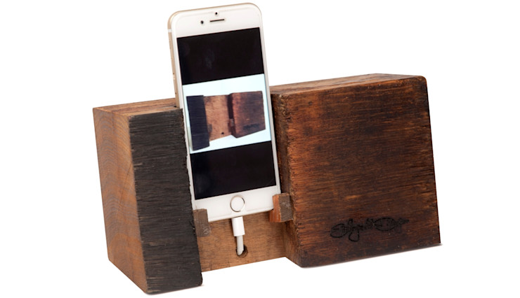 IPHONE HOLDER BARREL Altavola Design Sp. z o.o. Multimedia roomElectronic accessories Wood