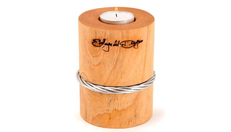 TEALIGHT HOLDER WIRE RING Altavola Design Sp. z o.o. Living roomLighting Wood