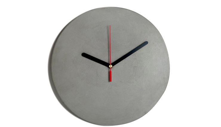CLOCK CONCRETE BLACK Altavola Design Sp. z o.o. Living roomAccessories & decoration Pottery Grey