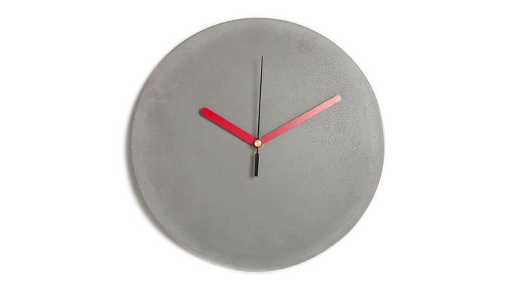 CLOCK CONCRETE RED Altavola Design Sp. z o.o. Living roomAccessories & decoration Pottery Grey