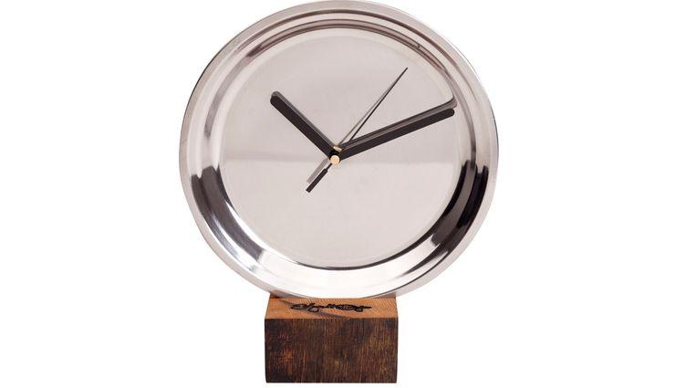 CLOCK MIRRO MEDIUM BLACK Altavola Design Sp. z o.o. Living roomAccessories & decoration Wood Metallic/Silver