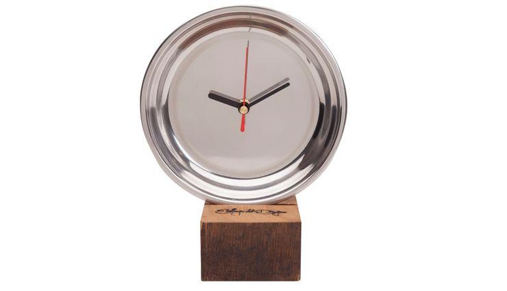 CLOCK MIRROR MINI Altavola Design Sp. z o.o. Living roomAccessories & decoration Wood Metallic/Silver