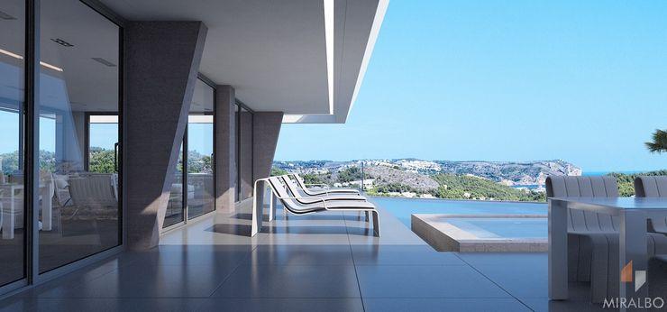 Villa Mirias Miralbo Excellence Modern balcony, veranda & terrace