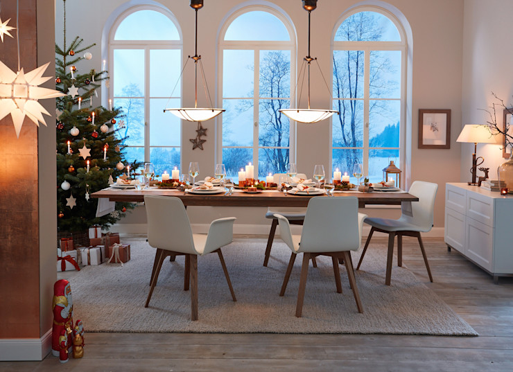 KwiK Designmöbel GmbH ダイニングルームテーブル 木 ブラウン