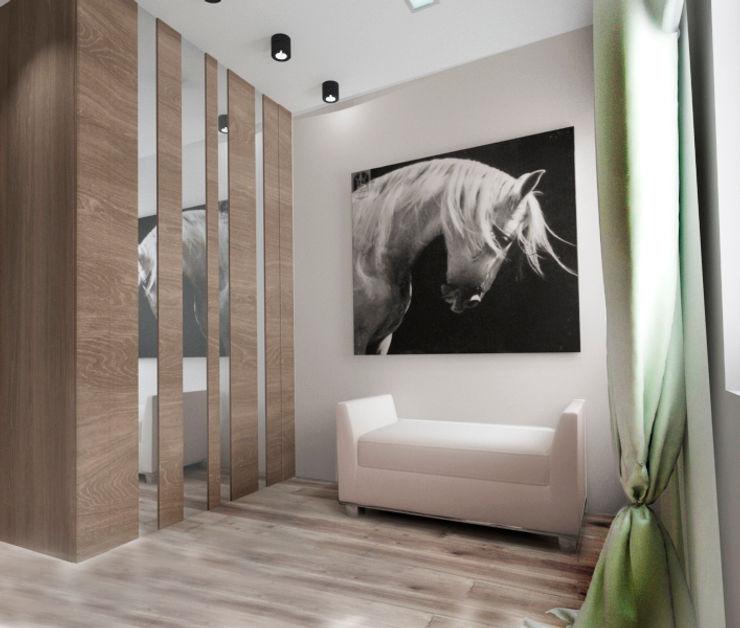 Tatiana Zaitseva Design Studio Pasillos, vestíbulos y escaleras de estilo minimalista
