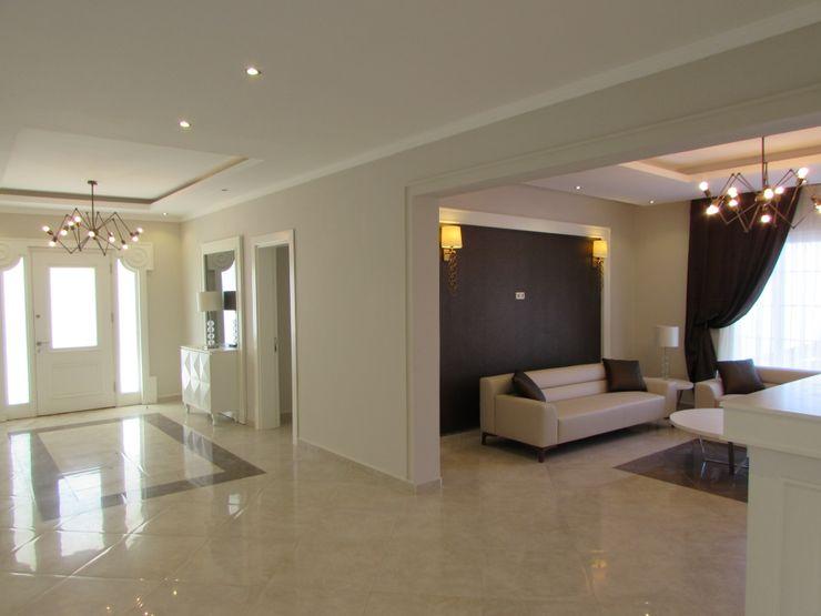TELOS İÇ MİMARLIK VE TASARIM Eclectic style corridor, hallway & stairs