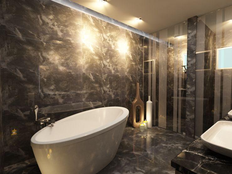 TELOS İÇ MİMARLIK VE TASARIM Modern Bathroom