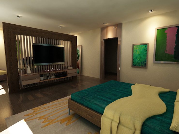 TELOS İÇ MİMARLIK VE TASARIM Modern Bedroom