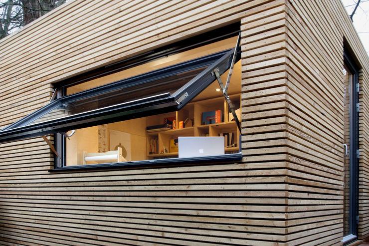 Workpod ecospace españa Estudios y despachos de estilo moderno Madera Acabado en madera