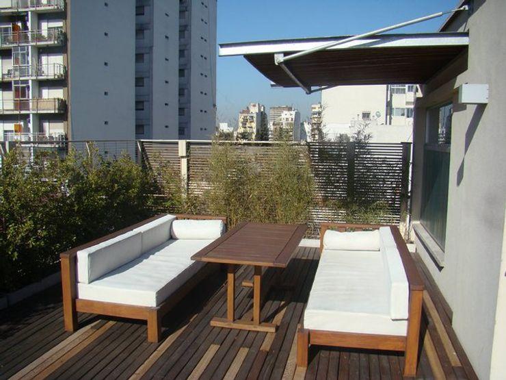 Piso urbano gatarqs Balcones y terrazas rurales