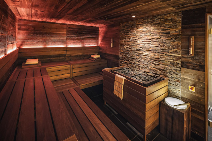 Referenz Nr. 3 corso sauna manufaktur gmbh Eclectic style hotels Stone Brown