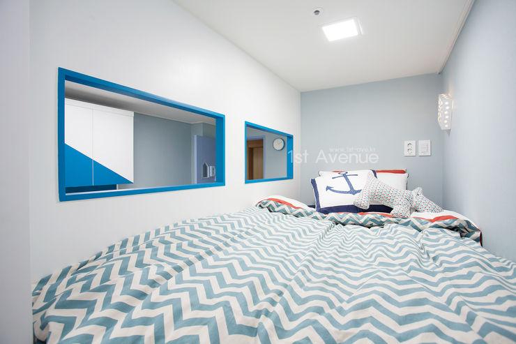 시원한 블루가 포인트 되어주는 인테리어 퍼스트애비뉴 모던스타일 아이방
